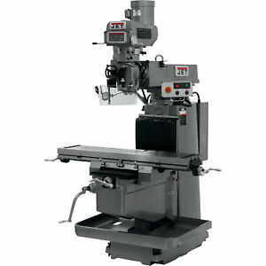 Jet Variable Speed Vertical Milling Machine 12in X 54in 230 460v 3 Phase