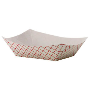 Dixie Kant Leek Polycoated Red Plaid Paper Food Tray pack Of 1000