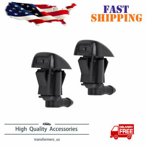 2pcs Windshield Washer Water Nozzle Spray Fits For Chevrolet Malibu 2008 2012