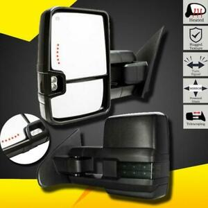 Towing Mirrors For 2014 2017 Silverado Gmc Sierra Power Heated Smoke Turn Signal