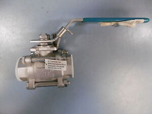 New At Controls 1 55 th 0100xxx 3 Piece Air Operated Manual Ball Valve