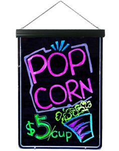Flashing Led Neon Signs Restaurant Signs Equipment Led Writing Board Menu Sign