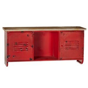 Industrial Red Metal Storage Cabinet Gym Locker Teen College Dorm 24 X 11 5 h