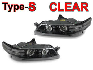 Depo Black Clear Bi xenon D2s Projector Headlights For 07 08 Acura Tl Type s