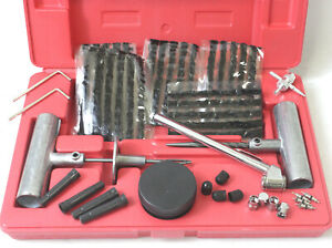 50pc Quick Tire Patch Repair Tool Kit W Case Plug Patch 4 Road Side Punctured