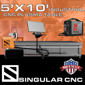 Singular Cnc 5x10 Industrial Cnc Plasma Table Turnkey W Hypertherm Powermax 45xp