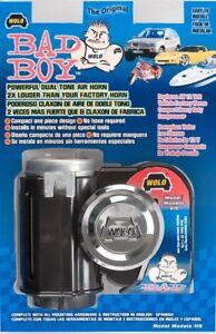 One bad Boy Motorcycle Dual Tone Air Horn 123 5 Decibel Wolo Model 419