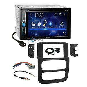 Pioneer 2018 Dvd Bluetooth Stereo Dash Kit Harness For 2002 05 Dodge Ram Truck