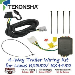118255 Tekonsha T one 4 Way Trailer Wiring Connector Kit For Lexus Rx350 Rx4450
