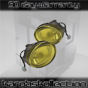 Fits 2002 2003 Nissan Maxima Amber Lens Fog Lights Jdm Factory Replacement