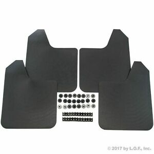 Universal Mud Flaps Guards For Most Vehicles 4 Pc Set Front And Rear W Hardwar