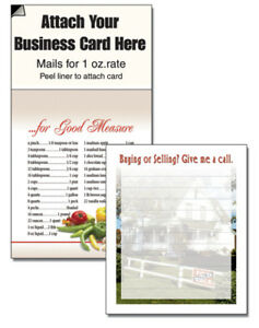 Realtor House Magnetic Business Card Notepad Cheap Marketing Scracthpad Handout