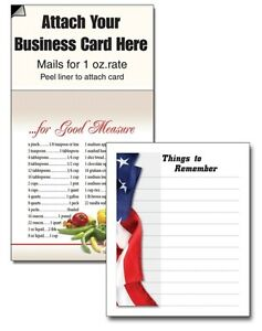 Things To Remember Magnetic Business Card American Us Flag Notepads Handouts