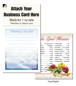 Things To Do Magnet Business Card Clouds Notepads Cheap Marketing Note Pad
