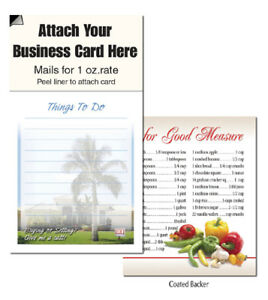 Palm Tree House Magnetic Business Cards Notepads Realtor Magnets Note Pads