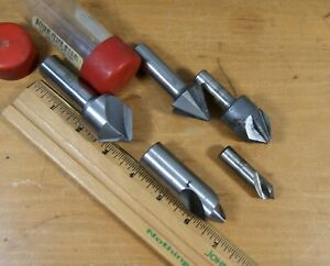 Vintage Machinist s Job Lot 5 Tapered End Mills Conical Concentric Usa S 2753