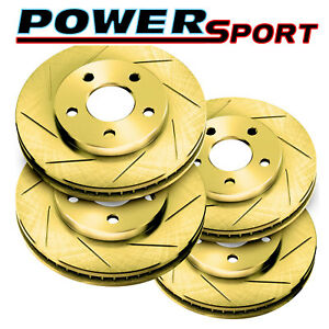 Fit 1990 1992 Nissan Stanza Front Rear Powersport Gold Slotted Brake Rotors