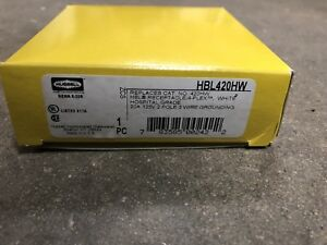 Hubbell Hbl420hw Hospital Grade Receptacle 20a 120v 2 Pole 3 Wire Grounding