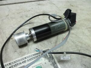 Maxon A max Dc Motor 2332 966 58 236 200 Heds 5540 Encoder 1 Flat Pulley tested
