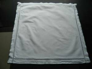 Vintage French Linen Metis Square Pillowcase In Oxford Style With Spoke Hems