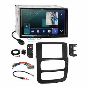 Pioneer Dvd Sirius Gps Ready Stereo Dash Kit Harness For 02 05 Dodge Ram Truck