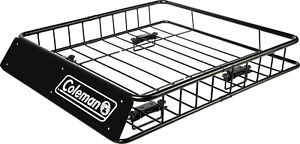 Coleman Steel Roof Top Rack Carrier For Luggage Cargo Basket Holder Extension