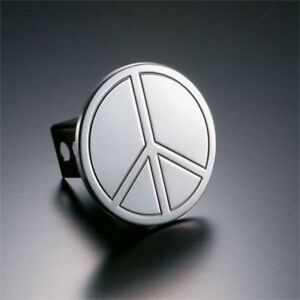 1007 All Sales Peace Sign Trailer Hitch Cover 2 Reciever