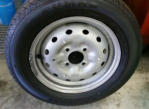Set Of 4 Disc Wheels Tires 165 80 R15 87t For Mga