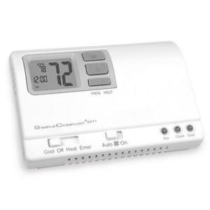 Programmable Simplecomfort Thermostat 2 Stage Heat Pump hardwired