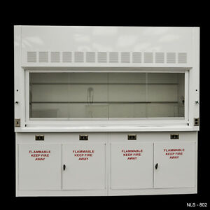 8 Laboratory Chemical Fume Hood With Flammable Cabinets