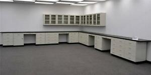 Laboratory Cabinets 43 Base 18 Wall Cabinets And Counter Tops