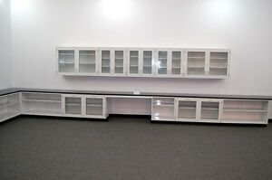 Fisher Lab 36 Glass Cabinets Casework W Glass Door Upper Wall Cabinets