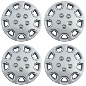 Set Of 4 14 Inch Snap On Silver Hub Caps For 1995 1996 Toyota Camry