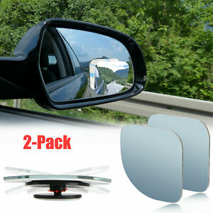 2pcs Auto Car Truck Suv 360 Wide Angle Convex Rear Side View Blind Spot Mirror