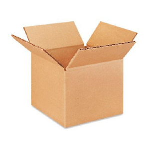 100 6x6x5 Cardboard Paper Boxes Mailing Packing Shipping Box Corrugated Carton