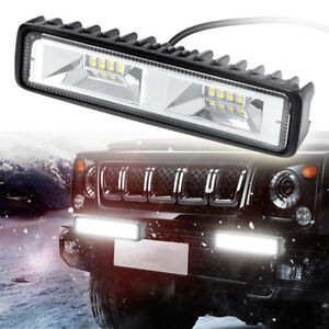 6 Inch 48w 16led Work Light Flood Beam Bar Car Suv Offroad Driving Fog Lamps
