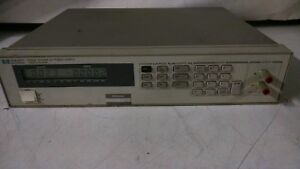 Hewlett Packard Hp Agilent 6633a 0 50v 0 2a100w System Dc Power Supply Opt 020