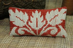 Red Doll Pillow Coverlet Antique Basket Crock