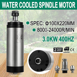 3kw Cnc Water Cooled Spindle Motor Er20 Engraving 220mm Speed Spwm Free Shipping