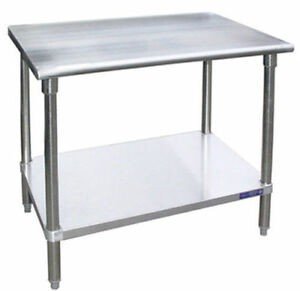 Stainless Steel 24 x24 Work Table W Galvanized Undershelf Nsf