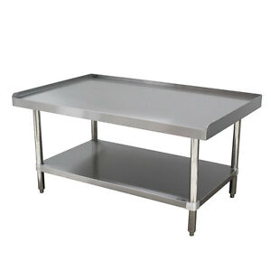 Stainless Steel Heavy Duty Equipment Stand 24 x60 W Galvanize Undershelf Nsf