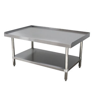 Stainless Steel 24 X 48 Commercial Equipment Stand Galvanized Under shelf Nsf