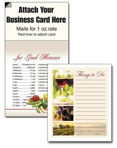 Things To Do Magnetic Business Card Wine List Notepads Magnets Marketing Handout