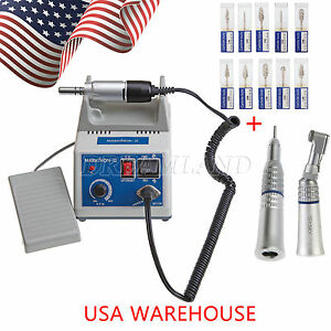 Dental Marathon 35k Rpm Micromotor N3 s Contra Straight Handpieces 10 burs Usa