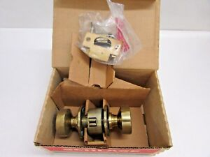 Nos Schlage Privacy Lock A40s Style Cro Finish 610 Satin Brass Blackened