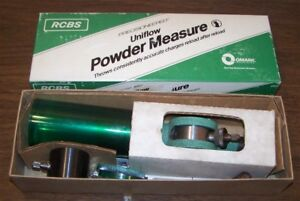 RCBS UNIFLOW POWDER MEASURE 09000 WITH LARGE AND SMALL Cylinders