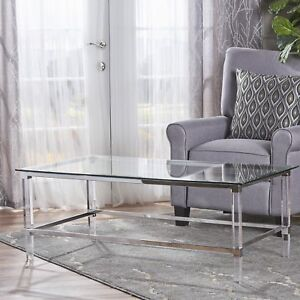 Bayla Modern Rectangle Glass Coffee Table By Christopher Knight Home