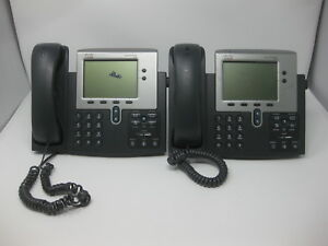 Lot Of 2 Cisco Cp 7940g 7940 Voip ip Phones W Handsets