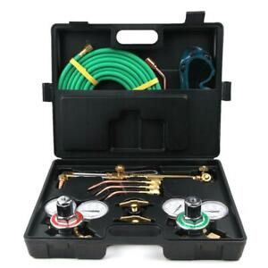 Gas Welding Cutting Kit Oxy Acetylene Oxygen Torch Welder Brazing Fits Black New