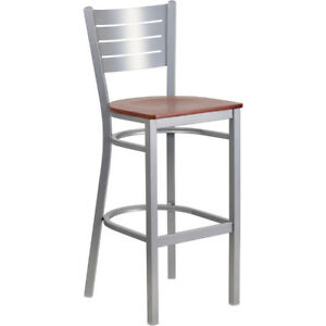 Clay Alder Home Langley Silver Metal Restaurant Bar Stool